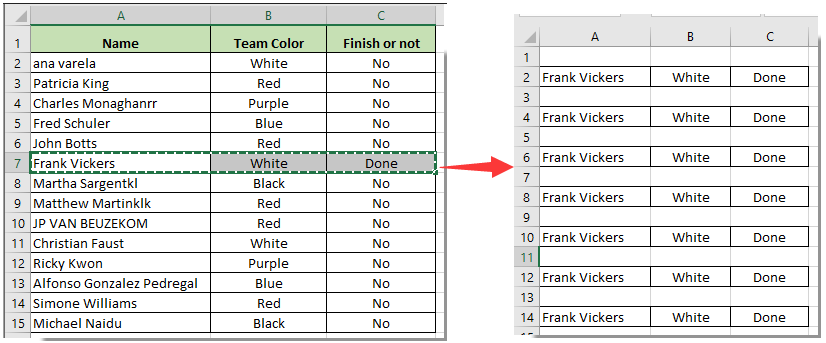 how to delete alternate blank rows in excel