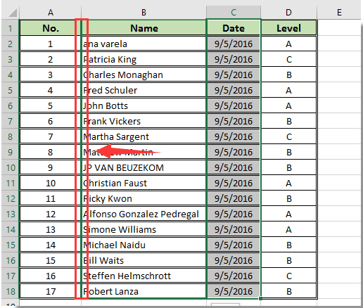 How to reorder position of columns in table in excel for Html table th span 2 columns