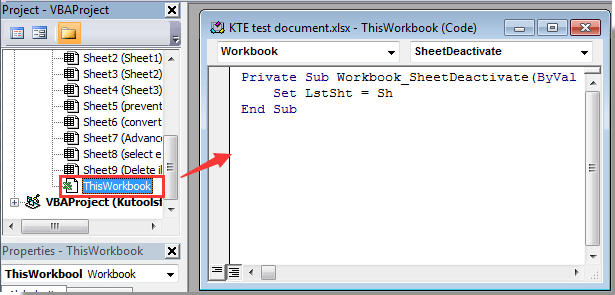 How To Return To Last Active Sheet In Excel