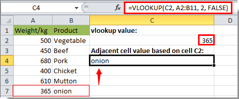 how to return on excel cell