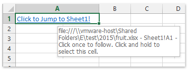 How to create hyperlink in a cell to another sheet in the same ...