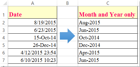 month and year