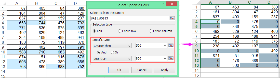 How To Find And Replace Values Greater Than Less Than A Specific