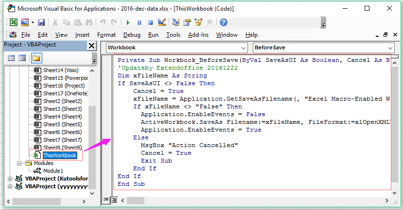 How to force users to save as a macro enabled workbook?