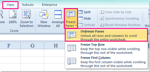 How to freeze lock columns and rows in excel doc freeze panes 5 ccuart Images