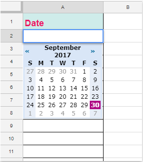 how to set dates in google sheets
