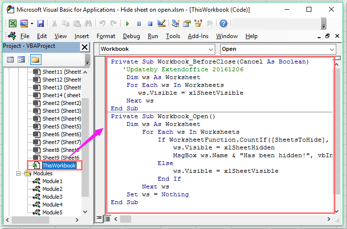 How to automatically hide specific worksheets when opening an excel doc hide sheet on open 5 ibookread ePUb