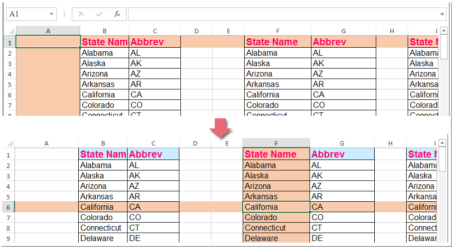 excel how to make a row a column