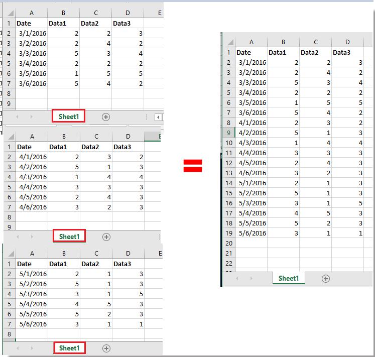Wie schnell Batch-Import mehrerer CSV / Text / XML-Dateien in Excel?