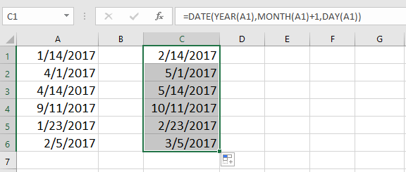 doc increment date by month 7