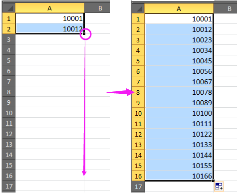 how to add numbers in excel automatically