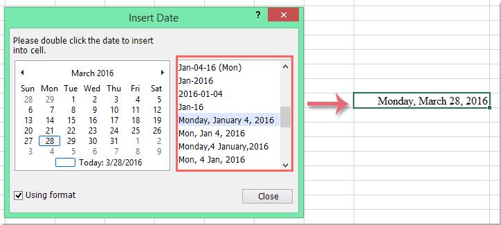 Insert current date in excel in Australia