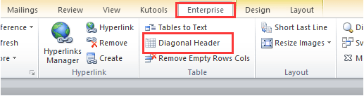 how to add a diagonal line in table word