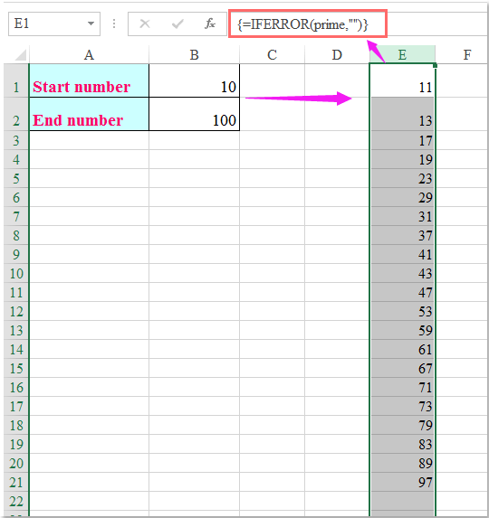 how to create a number list with excel