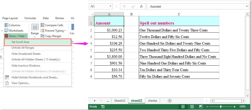 Wie kann ich den Bildschirm sperren, um das Scrollen im Excel ...