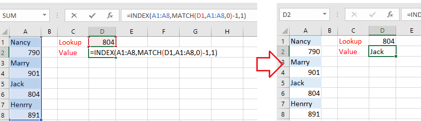 how to look a cell in excel