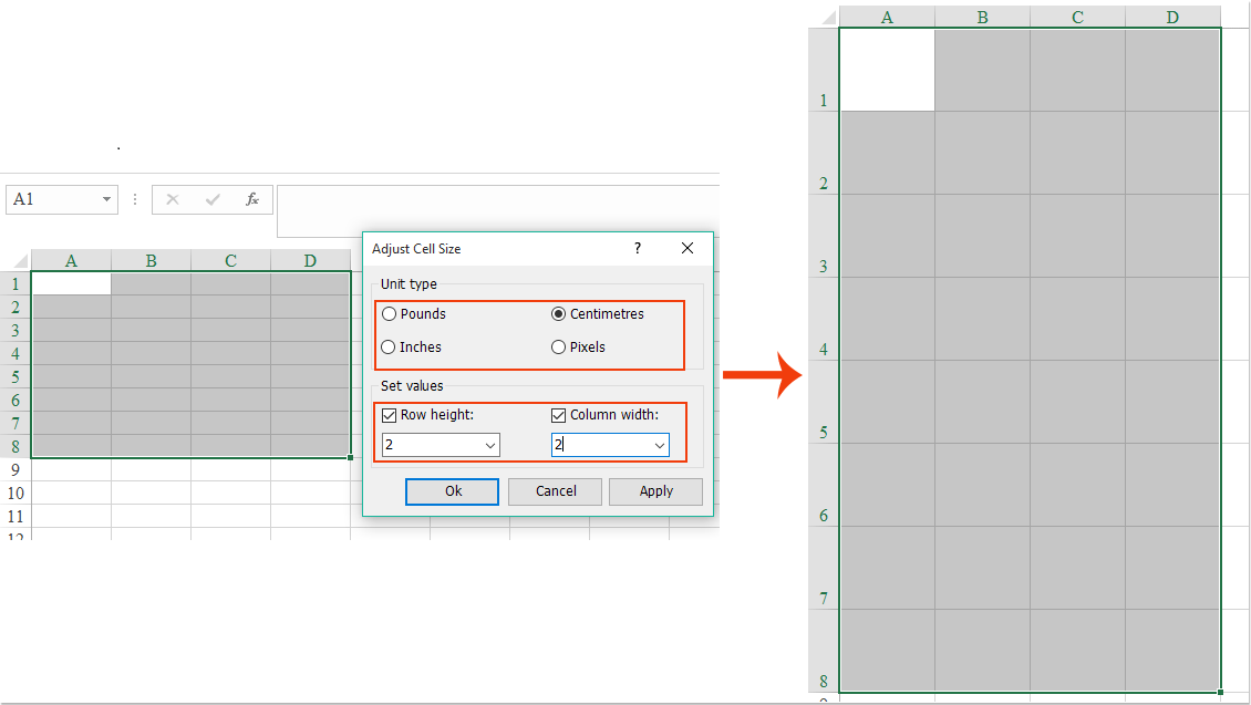 How To Make All Rows Same Height Or Columns Same Width In Excel