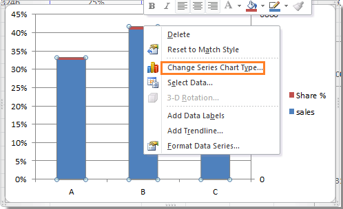 how to make your own axis on excel