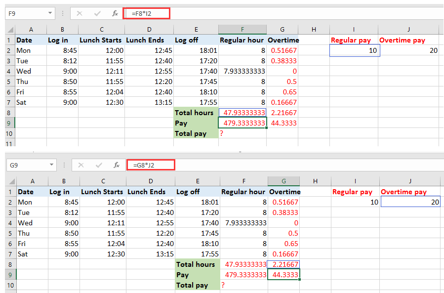 excel how to make cells calculate to 2 dp