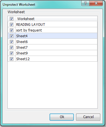 How to protect multiple worksheets at once in Excel?