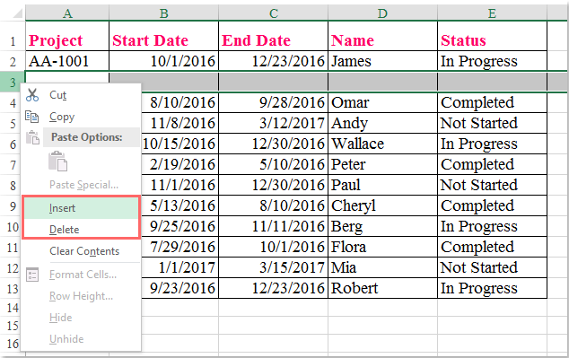 How to insert or delete rows in protected sheet?
