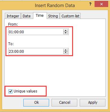 doc randomize unique 5
