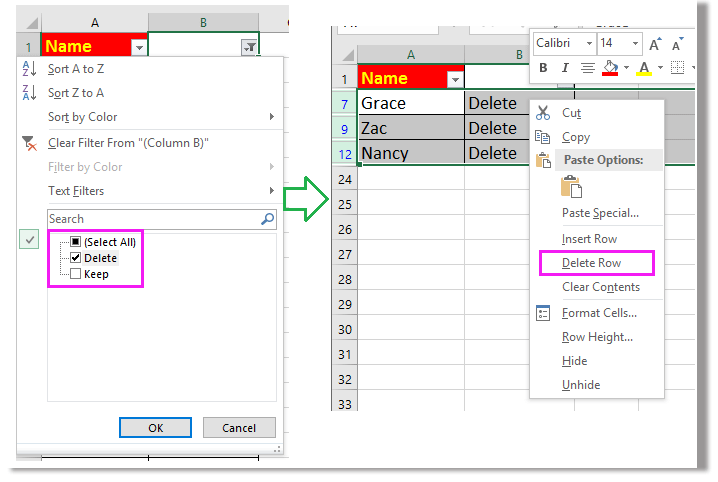 how to delete rows in excel that go on forever