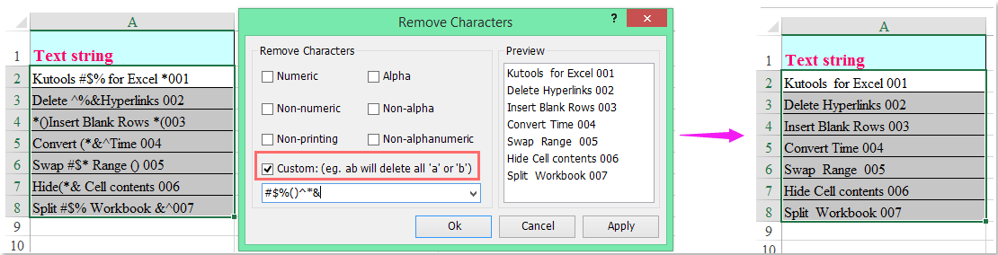 How To Remove Some Special Characters From String In Excel