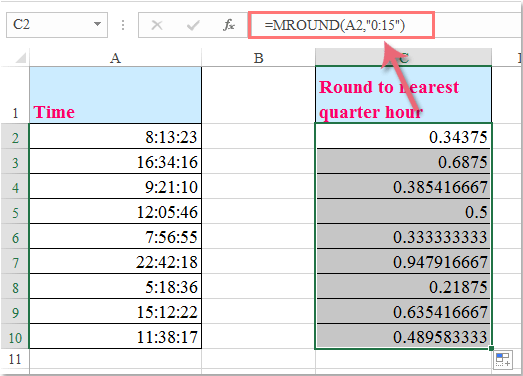 How To Round Round Up Round Down Time To Nearest Quarter Half