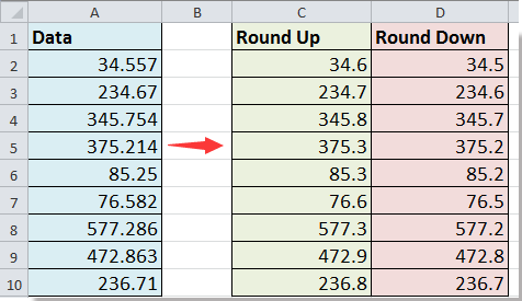 how to round off numbers in excel 2013