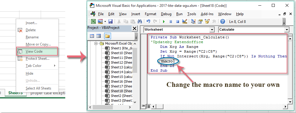 How to autorefresh an Excel autofilter when data is changed
