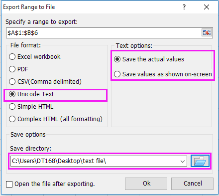 How to save each sheet as separate text file from a workbook?