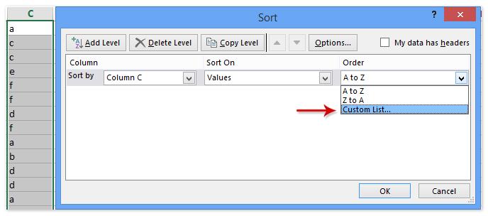 doc save custom sort criteria 5