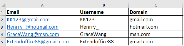 doc separate email to username domain 12