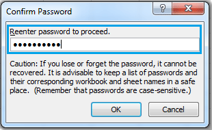 how to set password in excel