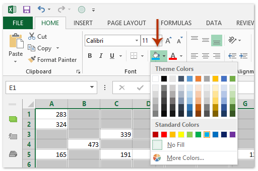 How To Shade Or Color Blank Cells Or Nonblank Cells In Excel