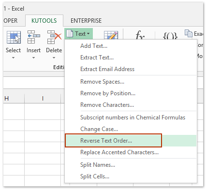 If We Can Reverse All Characters Order In Cells Then Sort These By The Last Character Easily Kutools For Excels Text Utility
