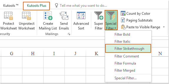how to put strikethrough in excel