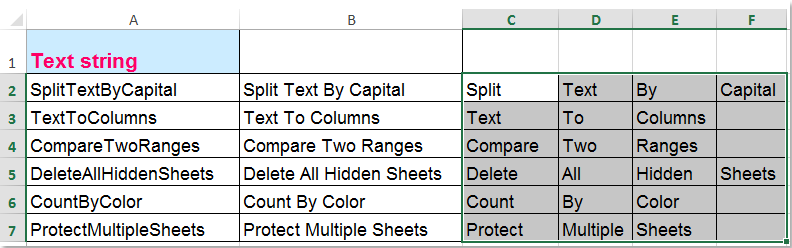 how to add letters to column in excel