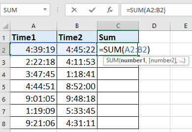how to add 2 hours to time in excel