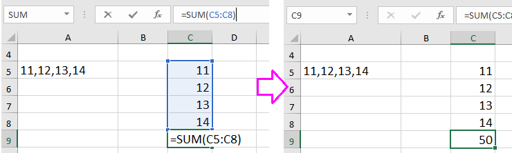 how to put commas in numbers in excel