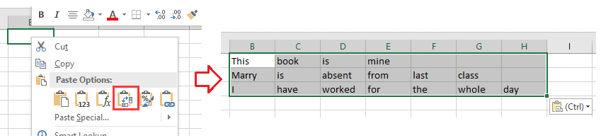 how to change delimiter in excel