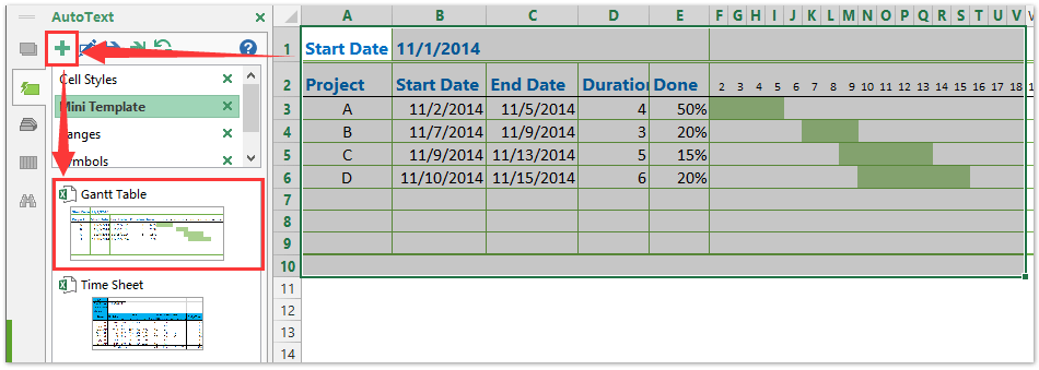 how to create a gantt chart template in excel