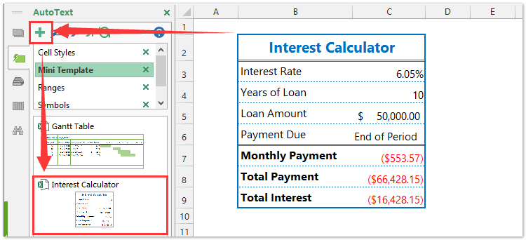 How to create loan amortization interest calculator of excel template maxwellsz