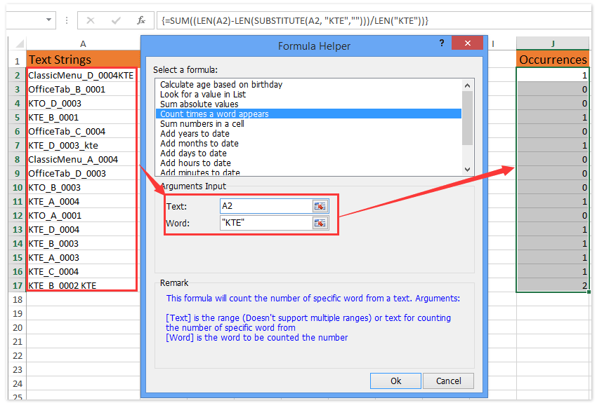 How To Check Or Find If Cell Contains Specific Stringtextword In