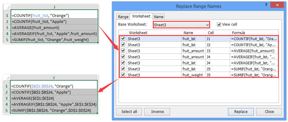 How to quickly delete all named ranges in Excel?