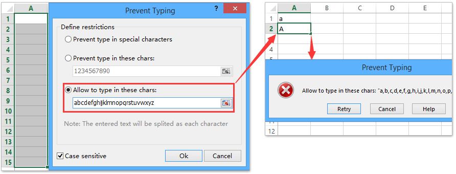 ad prevent typing chars