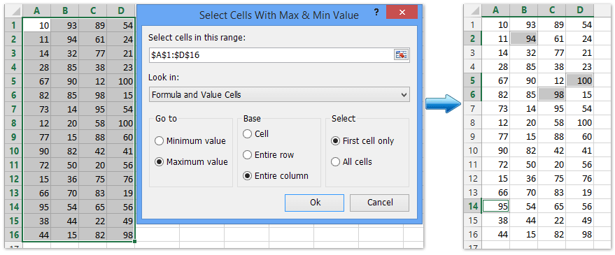 how to change x axis values in excel mac