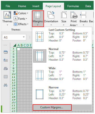 turn excel into graph paper