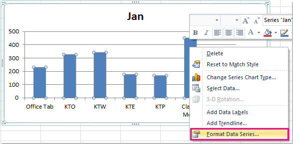 how to change graph points in excel